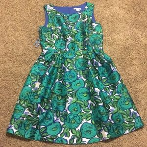 Cute Lis Claiborne Sleeveless Floral Dress Size 12